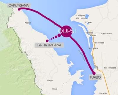 carte turbo bahia trigana capurgana Road Trip en Colombie