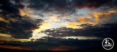 coucher de soleil sur Salento en Colombie