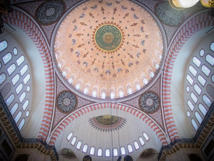 mosaïque mosquee solimane istanbul voyage turquie