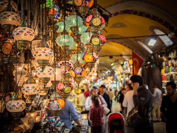 magnifiques lampes au grand bazar d'Istanbul