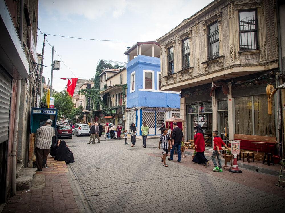 ambiance de rue à Fener et Balat à Istanbul