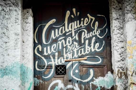 cualquiera sueno puede ser habitable street art bogota colombie