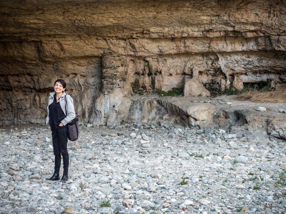 intérieur de la grotte de minerve