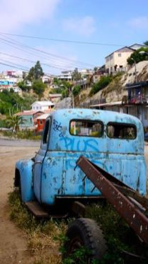 cerro plana ancha vieux camion à valparaiso au chili