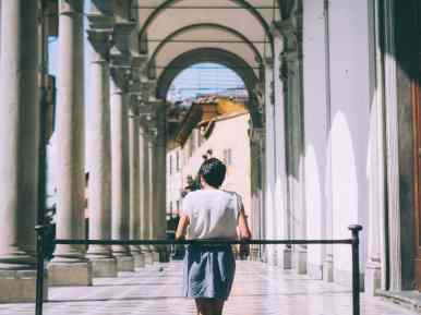 gallerie à florence lors d'un road trip en toscane