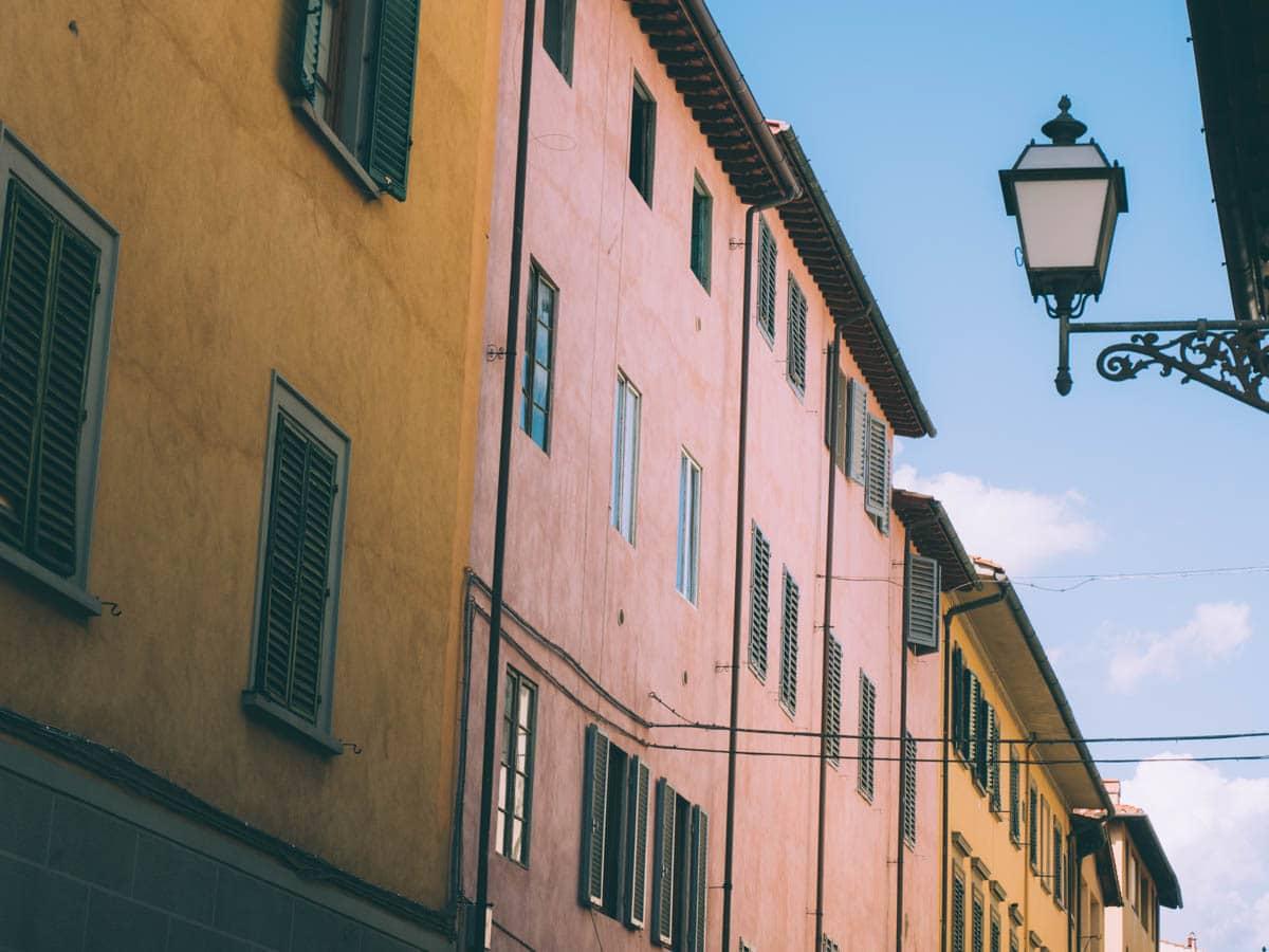 couleurs des murs à Florence en Toscane