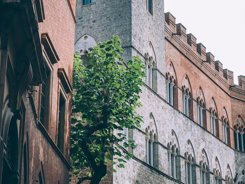 Les palais de Sienne en Toscane