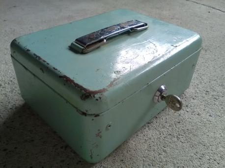 boite metal caisse monnaie argent cle simplex vintage les vieilles choses