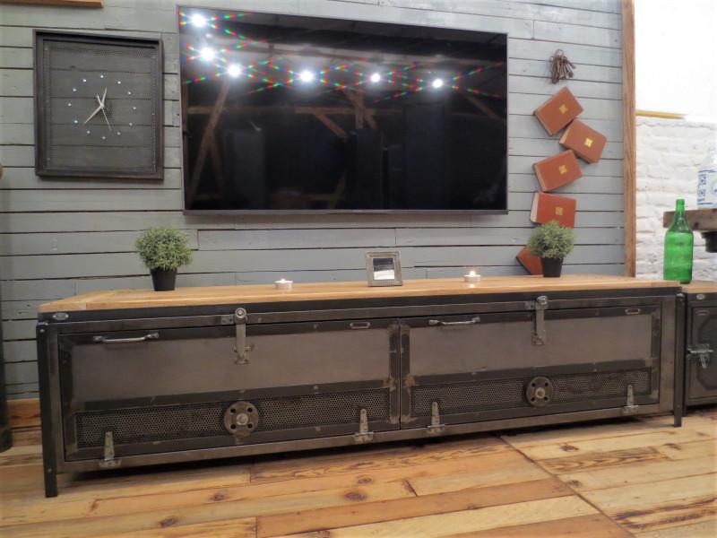 meuble tv industriel vintage