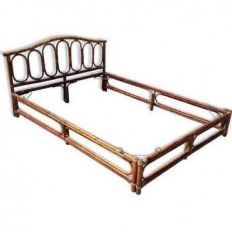 cadre de lit en rotin vintage les vieilles choses