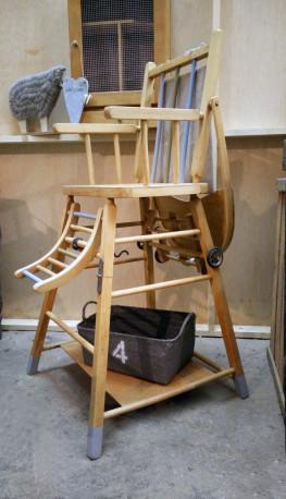 chaise haute bebe retro