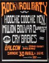"30 Avril 1989 Hoochie Coochie Men, Million bolivar Quartet, Cry Babies, Dogs à Orléans ""Le Balcon"""