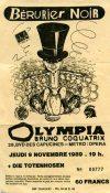 """9 novembre 1989 Die Toten Hosen, Berurier Noir à Paris """"l'Olympia"""""""