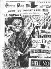 """21 juillet 1992 Sea Shepherd, Human Alert, Decline, Hell No Saint Jean de la Ruelle """"le Garage"""""""