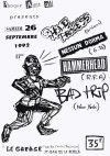 """26 septembre 1992  Hole Process, Nessun Dorma, Hammerhead, Bad Trip à Saint Jean de la Ruelle """"Le Garage"""""""