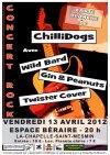 """13 avril 2012 Twister Cover, Gin & Peanuts, Wild Bard, Chillidogs à La Chapelle Saint Mesmin """"Espace Beraire"""""""