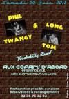 """20 juin 2015 Phil Twangy & Long Tom à Chateauneuf sur Loire """"Aux copains d'abord"""""""