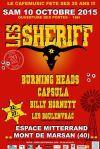 "10 Octobre 2015 Les Boulenvrac, Billy Hornett, Capsula, Burning Heads, Les Sheriff à Mont de Marsan ""Espace Mitterand"""""