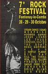 "29 Octobre 1994 Big Ray, Prohibition, Kill The Thrill,  à Fontenay le Comte ""Salle des Fetes"", Morphine, Headcleaner, Deus, Hoodoo Gurus, Real Cool Killers ""Salle Grande Prairie"""