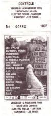 """10 novembre 1995 Electric Fields, Tantrum, Condense, Les Thugs à Tulle """"Salle Latreille"""""""