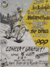"16 juin 1990 Thy Dress, Hydrolic System, QQQ, Metamorphose, les Kobolds, Good old Boyz, DDT, Kurt à Saint Jean de la Ruelle ""Grand Unisson"""
