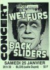 """25 janvier 1992 Wet Furs, Backsliders à Vienne """"Salle Dupré"""""""