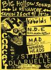 "26 Octobre 1991 Near Death Experience, Kobolds, MAD, Burning Heads à Saint Jean de la Ruelle ""Salle des Fêtes"""