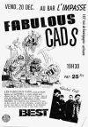"""20 Décembre 1991 Fabulous Cads à Orléans """"l'impasse"""""""