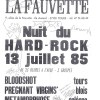 """13 juillet 1985 Blood Shot, Pregnant Virgin, Metamorphose à Tours """"La Fauvette"""""""