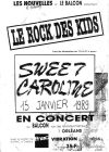 """15 janvier 1989 Sweet Caroline à Orléans """"Le Balcon"""""""