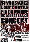 """22 decembre 2012 Chaos Rules, Disease-Over à Orléans """"Infrared"""""""