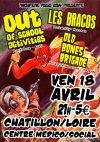 """18 avril 2014 Old Bones Brigade, Les Bracos, Out Of School Activities à Chatillon Sur Loire """"Centre Medico Social"""""""