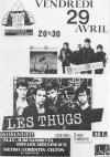 "29 avril 1988 Shredded Ermines, les Thugs à Issy Les Moulineaux ""Farenheit"""
