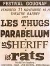 """11 Novembre 1988 Les Thugs, Parabellum, Les Sheriff, Les Rats à Bordeaux """"Théatre Barbey"""""""