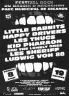 8 aout 1992 Little Rabbits, Happy Drivers, Les Thugs, Kid Pharaon and The Lonely Ones, Les Sheriff, Ludwig von 88 à Biganos
