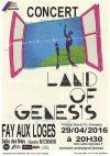 """29 avril 2016 Land of Genesis à Fay Aux Loges """"Salle des fêtes"""""""