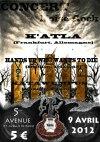 """9 avril 2012 Hands Up Who Wants To Die, Katla, Kata Wumpus à Orléans """"5eme Avenue"""""""