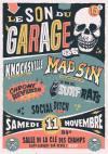 """11 novembre 2017 Social Ditch, The Surf Rats, Chrome Reverse, Mad Sin, Knocksville à Saint Laurent Sur Sevre """"Salle de la Clé des Champs"""""""