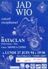 """27 juin 1994 Monica Lypso, Jad Wio à Paris """"le Bataclan"""""""
