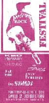 """21 octobre 1989 The Nomads, New Christs, Jad Wio, Kid Pharaon & the Mercenaries, Shtauss à Fontenay le Comte """"Salle de la Grande Prairie"""""""