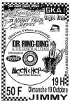 """19 octobre 1997 Dr Ring Ding & The Senior All Stars, Moon Chop à Bordeaux """"le Jimmy"""""""