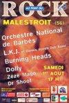 1er Août 1998  Orchestre National de Barbès, L.K.J. et Dennis Bowel Dub Band, Burning Heads, Dolly, Zézé Mago, Dr Shoot à Malestroit