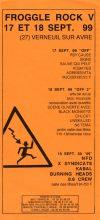 """17 septembre 1999 Psy Cause, Signe, Sauve Qui Peut, Kobayes, Aggressivita à Verneuil Sur Avre """"MJC"""""""