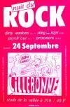 """24 septembre 1983 Dirty Wankers, Sting Rays, Psych Out, Prisoners à Lillebonne """"Stade de la Vallée"""""""