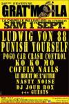 1er septembre 2018 Ludwig Von 88, Punish Yourself, Ko Ko Mo, Pogo Car Crash Control, Coffin Nails, Le Bruit de l'autre, DJ Denis et DJ Max Joub Box, Nasty Noise à la Chapelle Palluau