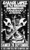 """28 septembre 2013 Garage Lopez, Les Fils Burroughs, Birmingham, Makadam, Los Perfectos à Paris """"L'Amsterdam"""""""