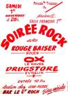 "1er novembre 1980 Rouge Baiser, Ox, Drugstore au Havre ""Salle Francois 1er"""