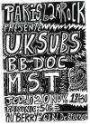 "20 novembre 1986 UK Subs, BB Doc, MST à Paris ""le Berry"""