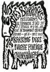 """9 decembre 1990 Barking Dogs, Ivresse Publique, Bumpkins (?), Moonshiners (?) à Paris """"Etoile D'Or"""""""