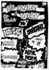 """22 juin 1985 Venturas, Avril, les Responsables, Skizophr, Ludwig Von 88, Initial Radikal à Velizy """"Theatre"""""""